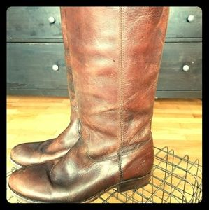 Frye Melissa Button Brush Off Vintage Boots 8.5